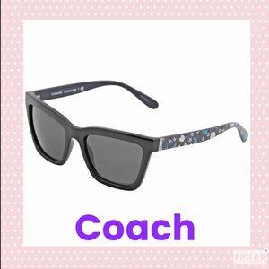 *Preowned* Coach black/blue floral sunglasses